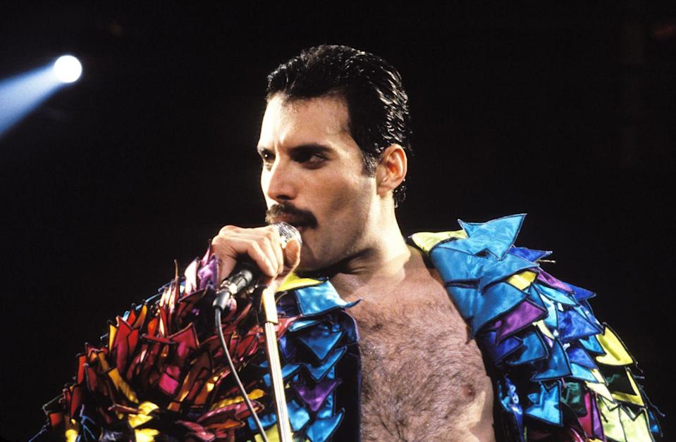 <p>Whether he was serving full-on glam or dressing up in flamboyant costumes, the Queen frontman's mustache was always part of the total package.</p>
