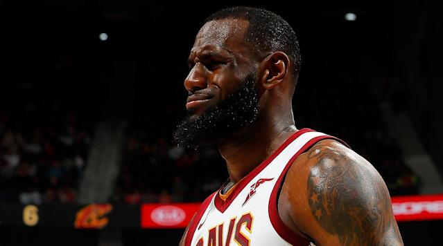 "<p>Hawks fans chanted ""LeBron will trade you"" and ""LeBron will leave you"" at Cavs players Friday night.</p><p>The chants came the day after the NBA trade deadline, which saw the Cleveland <a href=""https://www.si.com/nba/2018/02/08/cavs-roster-2018-nba-trade-deadline-lebron-james"" rel=""nofollow noopener"" target=""_blank"" data-ylk=""slk:team completely changed"" class=""link rapid-noclick-resp"">team completely changed</a>.</p><p>Six players — Isaiah Thomas, Dwyane Wade, Derrick Rose, Jae Crowder, Channing Frye and Iman Shumpert — all left Cleveland. The team gained Rodney Hood, George Hill, Jordan Clarkson and Larry Nance Jr in the trades.</p><p>ESPN's Dave McMenamin <a href=""https://twitter.com/mcten/status/962128451749797888?ref_src=twsrc%5Etfw&ref_url=http%3A%2F%2Fftw.usatoday.com%2F2018%2F02%2Fatlanta-hawks-lebron-james-will-trade-leave-you-chants-cavaliers-nba-video"" rel=""nofollow noopener"" target=""_blank"" data-ylk=""slk:reported"" class=""link rapid-noclick-resp"">reported</a> the chants were in full swing when Tristan Thompson and Jeff Green were at the free-throw line. </p><p>But apparently it ended well enough — with the crowd <a href=""https://twitter.com/nwilborn19/status/962133256341778433"" rel=""nofollow noopener"" target=""_blank"" data-ylk=""slk:chanting"" class=""link rapid-noclick-resp"">chanting</a> ""LeBron we love you.""</p>"