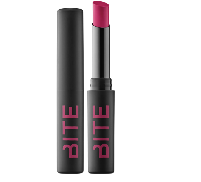 "<p><strong>Bite Beauty</strong></p><p>sephora.com</p><p><strong>$24.00</strong></p><p><a href=""https://go.redirectingat.com?id=74968X1596630&url=https%3A%2F%2Fwww.sephora.com%2Fproduct%2Foutburst-longwear-lip-stain-P443746&sref=https%3A%2F%2Fwww.womenshealthmag.com%2Fbeauty%2Fg32174487%2Fchloe-coscarelli-vegan-beauty-routine%2F"" rel=""nofollow noopener"" target=""_blank"" data-ylk=""slk:Shop Now"" class=""link rapid-noclick-resp"">Shop Now</a></p><p>""It's not easy finding a bright, vibrant lip color that doesn't use animal-derived ingredients, so this product is a total gem. I love doing a bright lip for photos, and this Strawberry Frozé shade is my fave.""</p>"