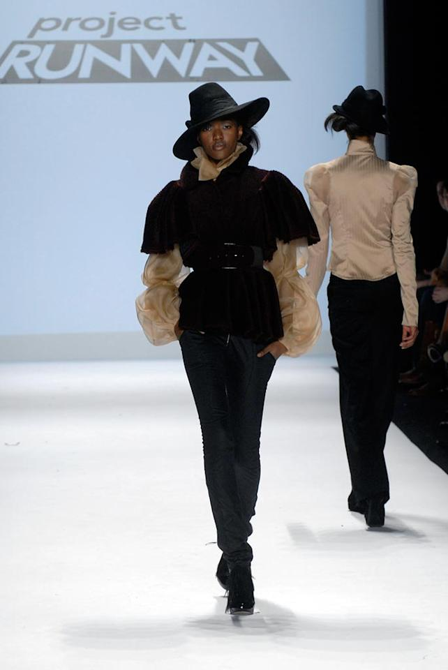 """Finale"" -- Christian shows his collection at Mercedes-Benz Fashion Week in New York on Season 4 of <a href=""/project-runway/show/36319"">""Project Runway""</a>."