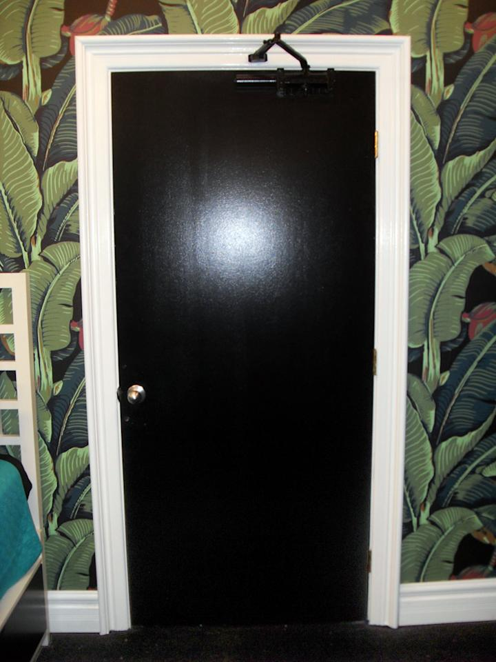 Behind this intimidating black door lies the Have/Have Not room, where numerous Houseguests have spent many nights unsuccessfully attempting to sleep on metal beds with painfully thin pillows.
