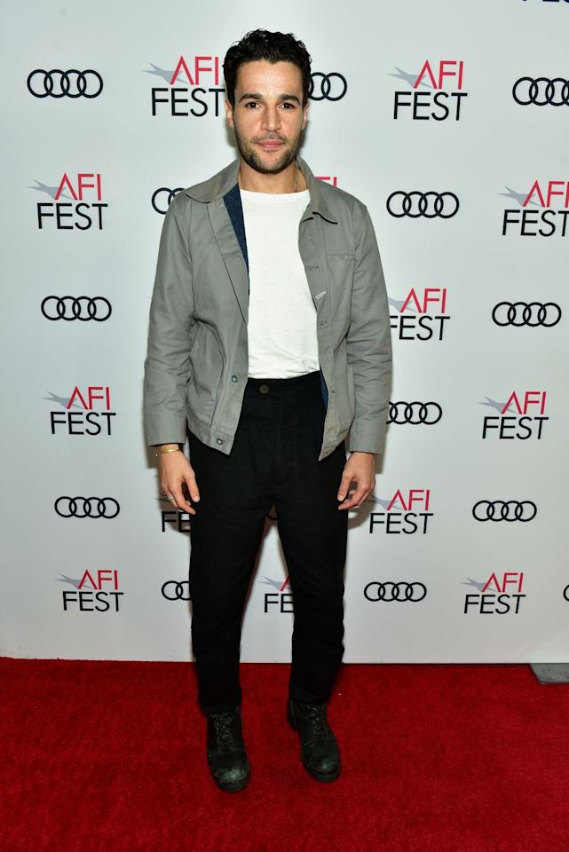 <p>Christopher Abbott loves a good transformation, like going from a dithering dreamer to bona fide drug dealer in <em>Girls</em>. Here he performs a similar feat on a unremarkable anorak, pairing it with black trousers and a simple, tucked in white t-shirt for a look that adds up to more than the sum of its parts. Good work.<em></em></p>