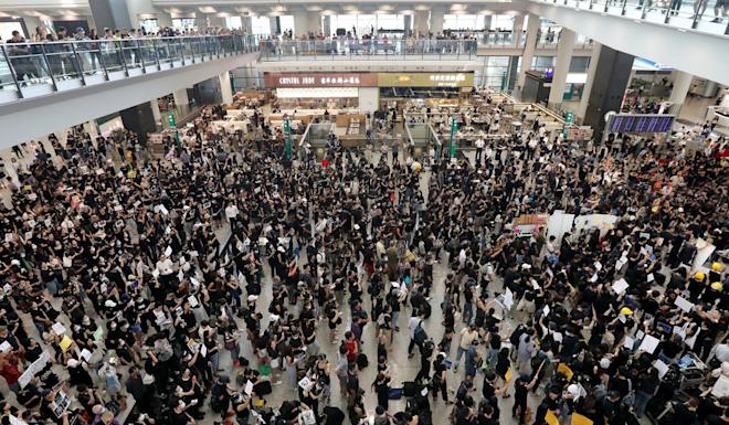 The airport has been beset by protests, which have had major repercussions for Cathay Pacific. Photo: Felix Wong