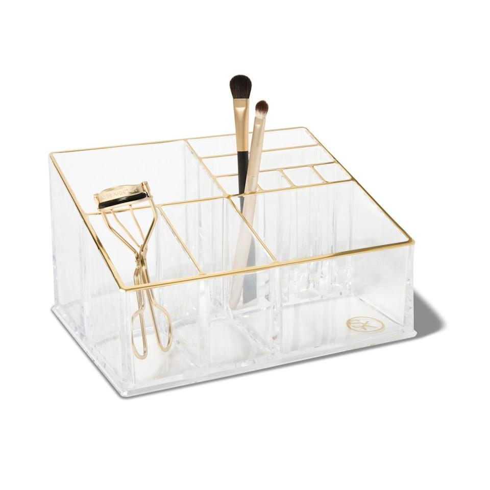 <p>We appreciate the variety of compartments in this <span>Sonia Kashuk Countertop Makeup Tray Organizer</span> ($13).</p>