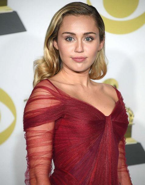 PHOTO: Miley Cyrus poses at the 60th Annual GRAMMY Awards at Madison Square Garden on Jan. 28, 2018 in New York. (Steve Granitz/Getty Images)