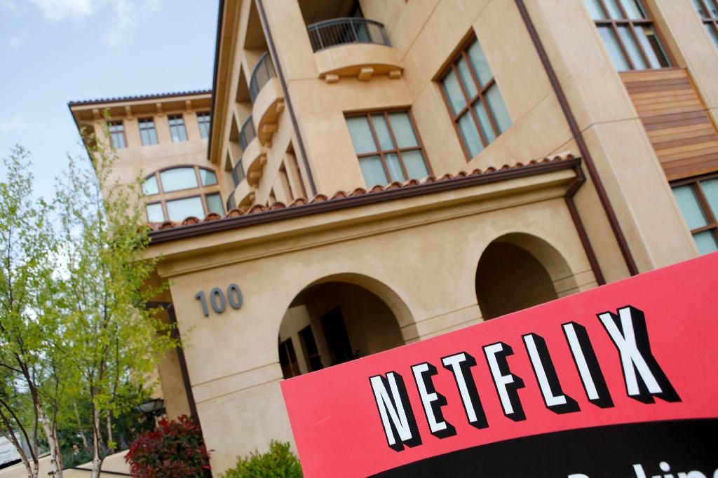 Shares in Netflix rallied after a better-than-expected quarterly update from the streaming television giant, which now has 104 million paid subscribers worldwide (AFP Photo/Ryan Anson)