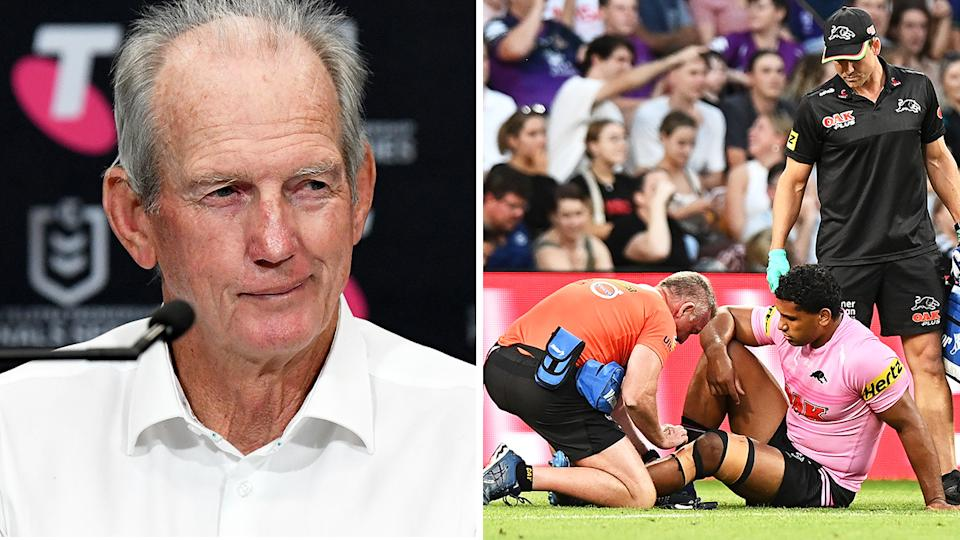 South Sydney's complaint to the NRL over the conduct of Penrith trainer Hayden Knowles was met with a blunt rebuke from Panthers brass. Pictures: getty Images