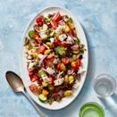 """<p>Our version of this classic salad doesn't shy from big flavor (or lots of capers). We balance out all that brine with a pinch of confectioner's sugar.</p><p><em><a href=""""https://www.goodhousekeeping.com/food-recipes/healthy/a31914743/greek-salad-recipe/"""" rel=""""nofollow noopener"""" target=""""_blank"""" data-ylk=""""slk:Get the recipe for Greek Salad »"""" class=""""link rapid-noclick-resp"""">Get the recipe for Greek Salad »</a></em></p>"""