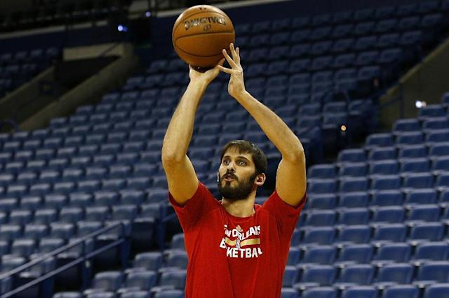 Omri Casspi, pictured in February 2017, is averaging 6.1 points and 4.0 rebounds over 23 games with three teams this season (AFP Photo/Jonathan Bachman)