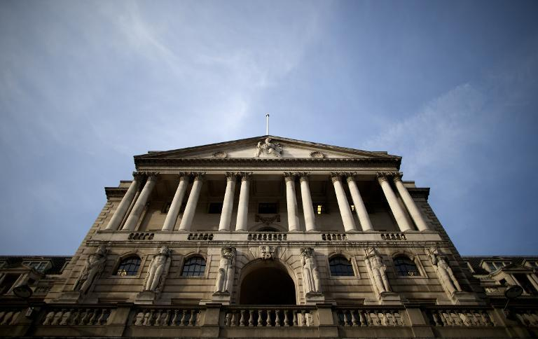 The Bank of England in central London, pictured on February 28, 2013. The bank's nine-member monetary policy committee has decided to maintain the level of cash stimulus in the economy at £375 billion, it said in a statement