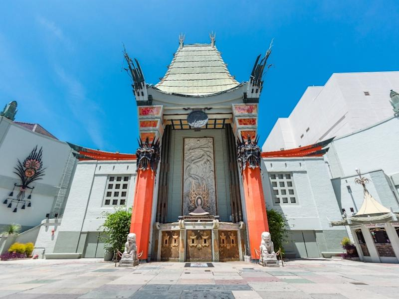 An empty Chinese Theatre on Hollywood Blvd during the COVID-19 pandemic, June 15, 2020.
