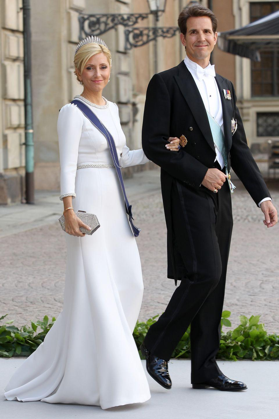 <p>The couple lived in Greenwich, Connecticut and New York City before moving to London. Again, the Princess is wearing Valentino here–Mr. Valentino is a good friend of hers. </p>