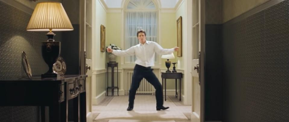 Hugh Grant as David in 'Love Actually' (Universal Pictures)
