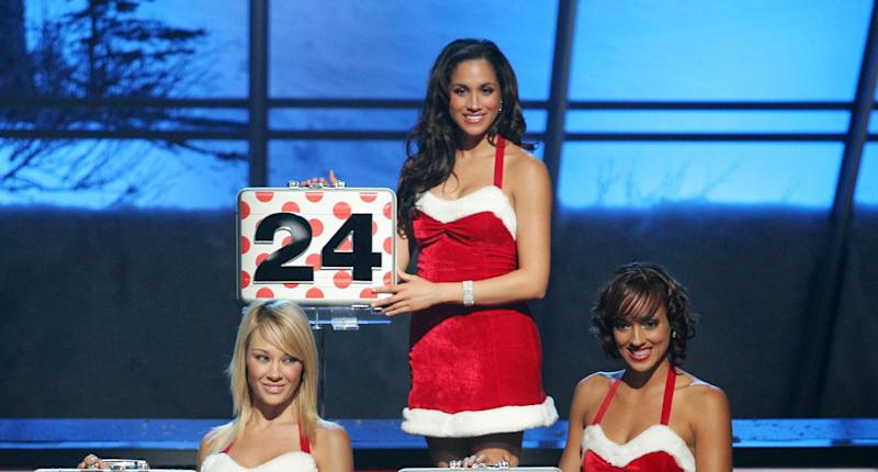 """Markle during her stint on """"Deal or No Deal."""" (Photo: NBC via Getty Images)"""