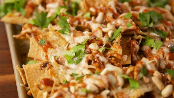 PHOTO: This Pad Thai Nacho recipe from Delish is unique and delicious. (Delish)