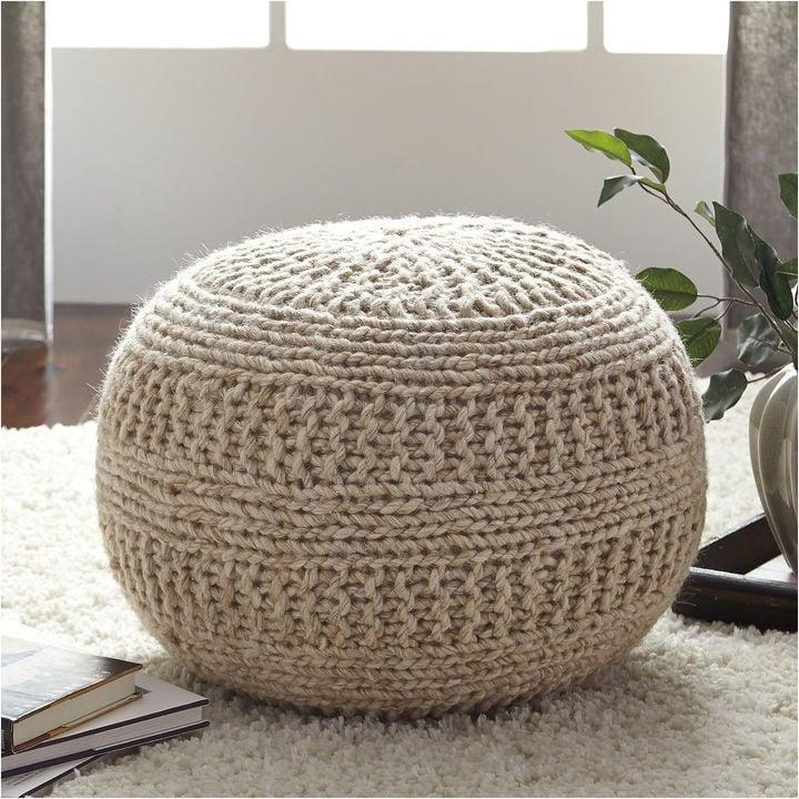 <p>This <span>Benedict Pouf</span> ($179, originally $199) is 100% cotton and can easily be spot cleaned.</p>
