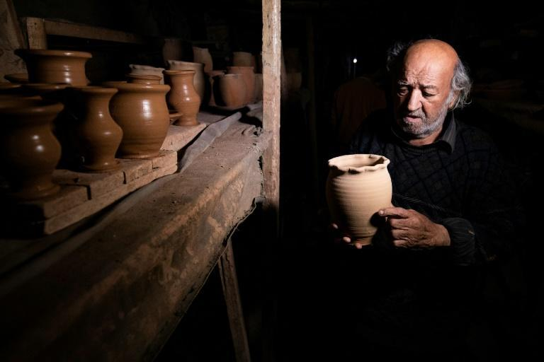 Petros, 85, says his family has been in the pottery business for more than 450 years and that he took over the trade from his sick father when he was only a teenager
