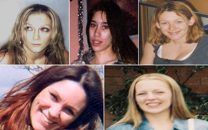 In 2008 Wright was convicted of the murders of five women in the Ipswich area which occurred between October 30 and December 10 2006. The women L-R (from top) Anneli Alderton, Tania Nicol, Paula Clennell. Below- Annette Nicholls, Gemma Adams