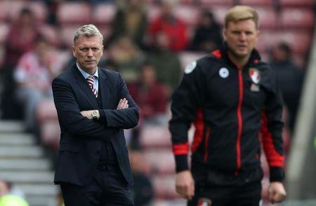 Britain Football Soccer - Sunderland v AFC Bournemouth - Premier League - Stadium of Light - 29/4/17 Sunderland manager David Moyes and Bournemouth manager Eddie Howe Reuters / Scott Heppell Livepic