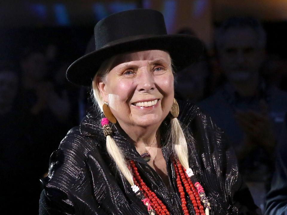 Joni Mitchell attends the 35th annual NAMM TEC Awards on 18 January 2020 in Anaheim, California (Jesse Grant/Getty Images for NAMM)