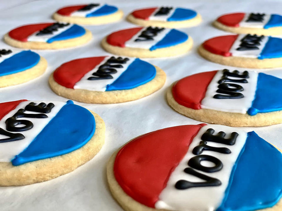 Vote cookies available from Bayou Bakery, Coffee Bar and Eatery. (Courtesy Bayou Bakery)