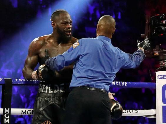 Deontay Wilder was furious with his team's decision to wave off his fight with Tyson Fury (Reuters)