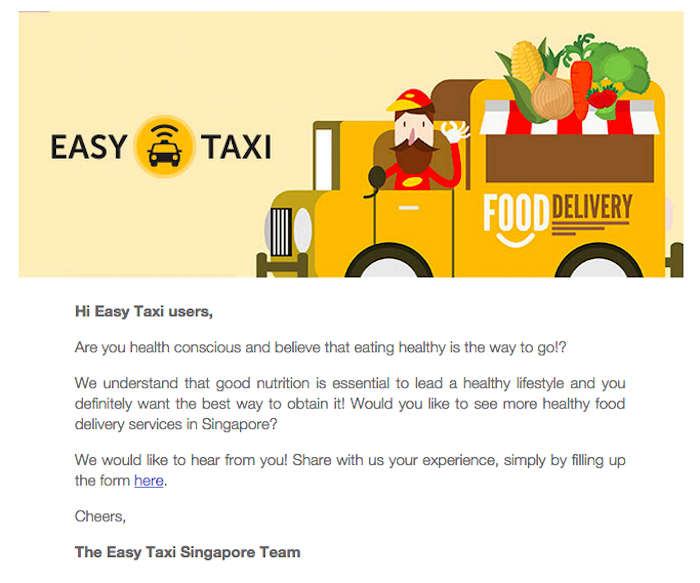 easy taxi food on demand