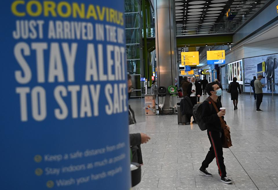 <p>Travel corridors are being suspended from Monday</p> (EPA)