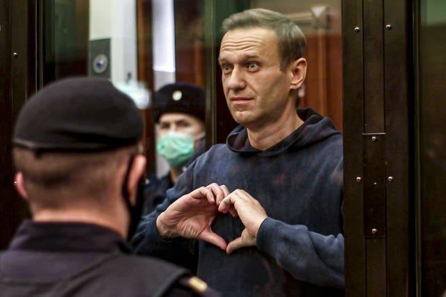 There have been protests at the jailing of Alexei Navalny in Russia