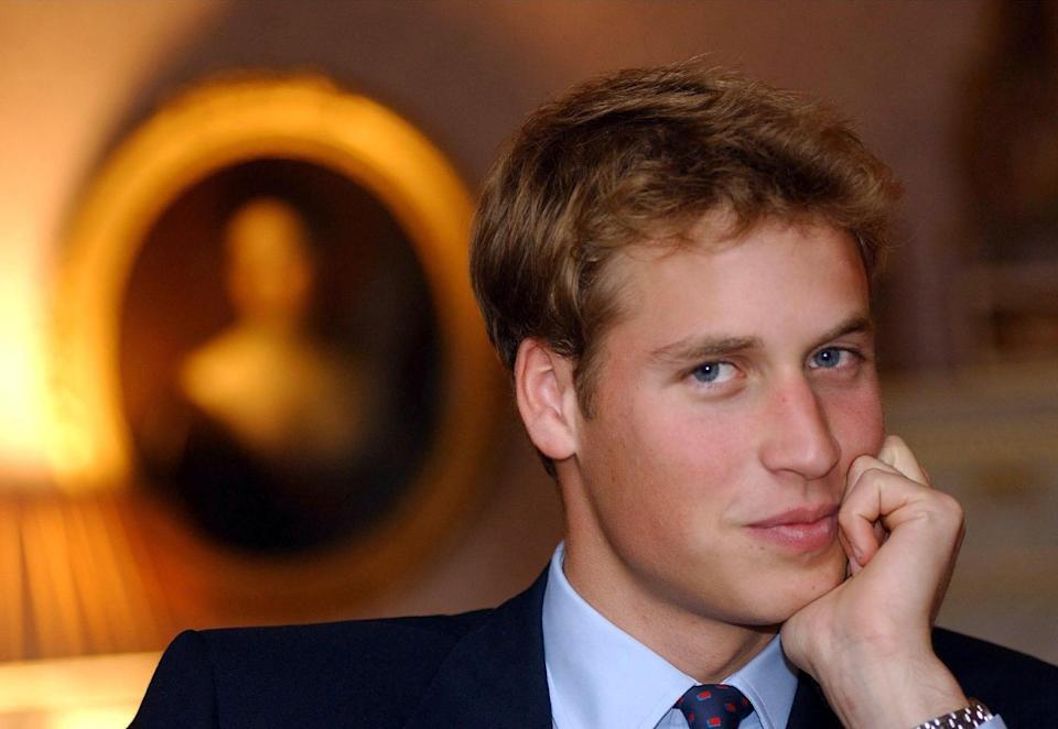 <p>Prince William at the Palace of Holyroodhouse in September 2001, before he started his university course at St. Andrews. (Toby Melville/AFP via Getty Images)</p>