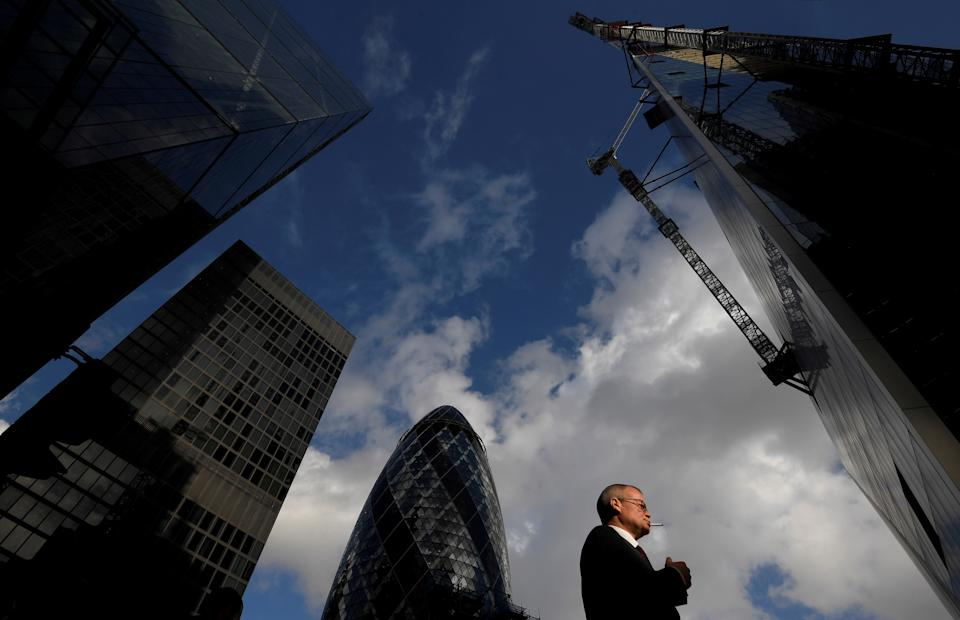 City of London financial district. Photo: Toby Melville/Reuters