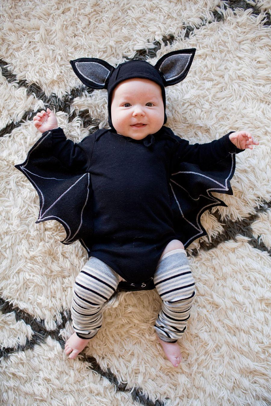 """<p>There's nothing batty about this adorable DIY infant costume. Just dress your little on in a black onesie and make wings out of black felt and white chalk.</p><p><em><a href=""""https://tellloveandparty.com/2014/10/tell-monster-family-costume-diy.html"""" rel=""""nofollow noopener"""" target=""""_blank"""" data-ylk=""""slk:Get the tutorial at Tell Love and Party »"""" class=""""link rapid-noclick-resp"""">Get the tutorial at Tell Love and Party »</a></em></p>"""