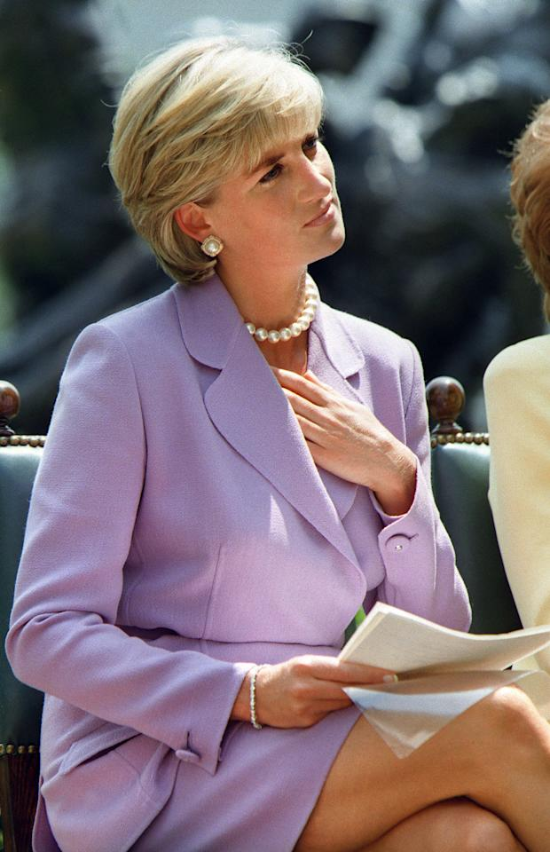 <p>Diana attended a ceremony for the Red Cross headquarters in Washington DC in June 1997.</p>