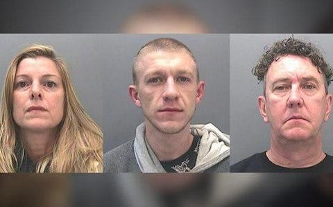 Elliott Morris, centre, who had sent the photograph to potential customers in Bridgend. He was sentenced to eight and half years for conspiracy to supply cannabis, along with his father Darren and mother Dominique - Credit: South Wales Police