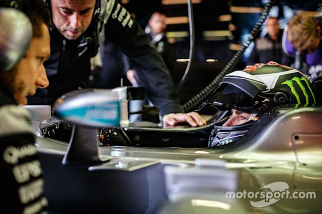 "Jorge Lorenzo, Mercedes AMG F1 <span class=""copyright"">Monster Energy</span>"