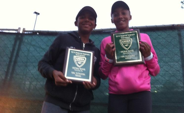 Hurricane and Tornado Black, from left to right, may be the next big thing in women's tennis — HurricaneTyraBlack.com