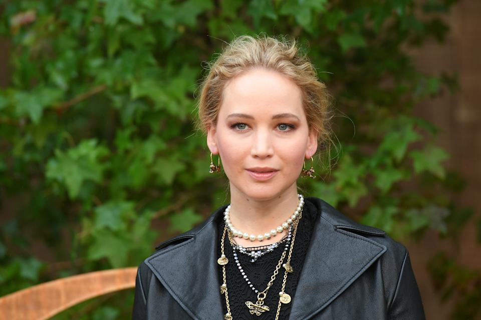 PARIS, FRANCE - SEPTEMBER 24: Jennifer Lawrence attends the Christian Dior Womenswear Spring/Summer 2020 show as part of Paris Fashion Week on September 24, 2019 in Paris, France. (Photo by Stephane Cardinale - Corbis/Corbis via Getty Images)