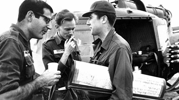 @@*@@* FILE @@*@@* From left: David Halberstam of the New York Times, Malcolm Browne of the Associated Press, and Neil Sheehan of UPI chat between lifts during an operation in the Mekong Delta in this Nov. 4, 1963 file photo. Pulitzer Prize–winning author and journalist Halberstam was killed in a car crash early Monday, April 23, 2007 a county coroner said. He was 73. (AP Photo/Time Magazine) @@*@@* MAGS OUT NO SALES @@*@@*