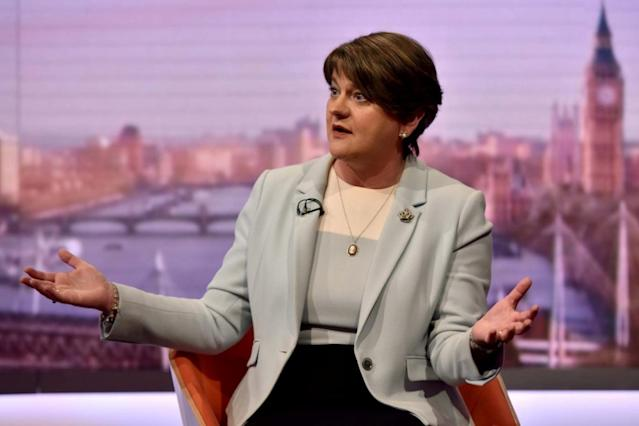 Arlene Foster, leader of the Democratic Unionist Party (DUP) (REUTERS)