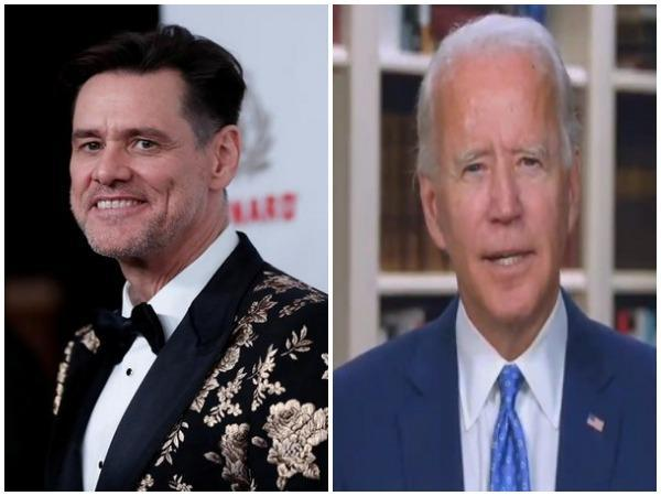 Jim Carrey and Joe Biden