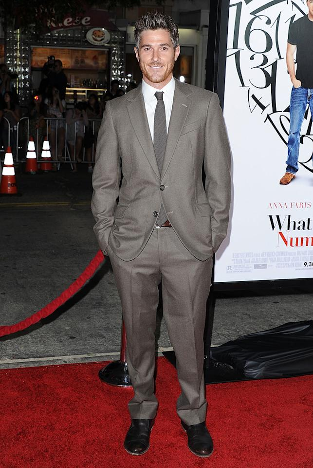 "<a href=""http://movies.yahoo.com/movie/contributor/1808685168"">Dave Annable</a> at the Los Angeles premiere of <a href=""http://movies.yahoo.com/movie/1810179802/info"">What's Your Number?</a> on September 19, 2011."