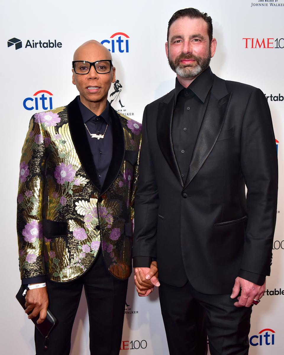 "<a href=""https://www.huffpost.com/voices/topic/rupaul"" target=""_blank"" rel=""noopener noreferrer"">RuPaul</a> and his husband George LeBar <a href=""https://www.marieclaire.com/celebrity/news/a26016/rupaul-georges-lebar-married/"" target=""_blank"" rel=""noopener noreferrer"">met on the dance floor</a> at New York's now-closed famous club, The Limelight, in 1994 on George's' birthday. They married in <a href=""https://www.eonline.com/news/836276/surprise-rupaul-secretly-marries-longtime-partner-georges-lebar"" target=""_blank"" rel=""noopener noreferrer"">January 2017</a>. <br /><br><br><br />""He's so kind and funny,"" Ru said of LeBar in a 2015 interview with <a href=""https://www.buzzfeed.com/patrickstrudwick/this-is-what-happens-when-you-interview-rupaul-and-he-throws?utm_term=.um0VWGmq5#.jljKlVWBy"" target=""_blank"" rel=""noopener noreferrer"">BuzzFeed</a>. ""I remember praying, 'I want a sweet, sensitive man,' and I got an Australian who's just lovely."""
