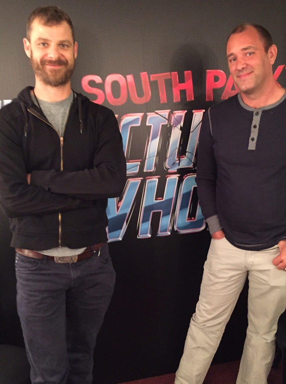 Matt Stone and Trey Parker, co-creators of 'South Park,' photographed June 15 in Los Angeles.