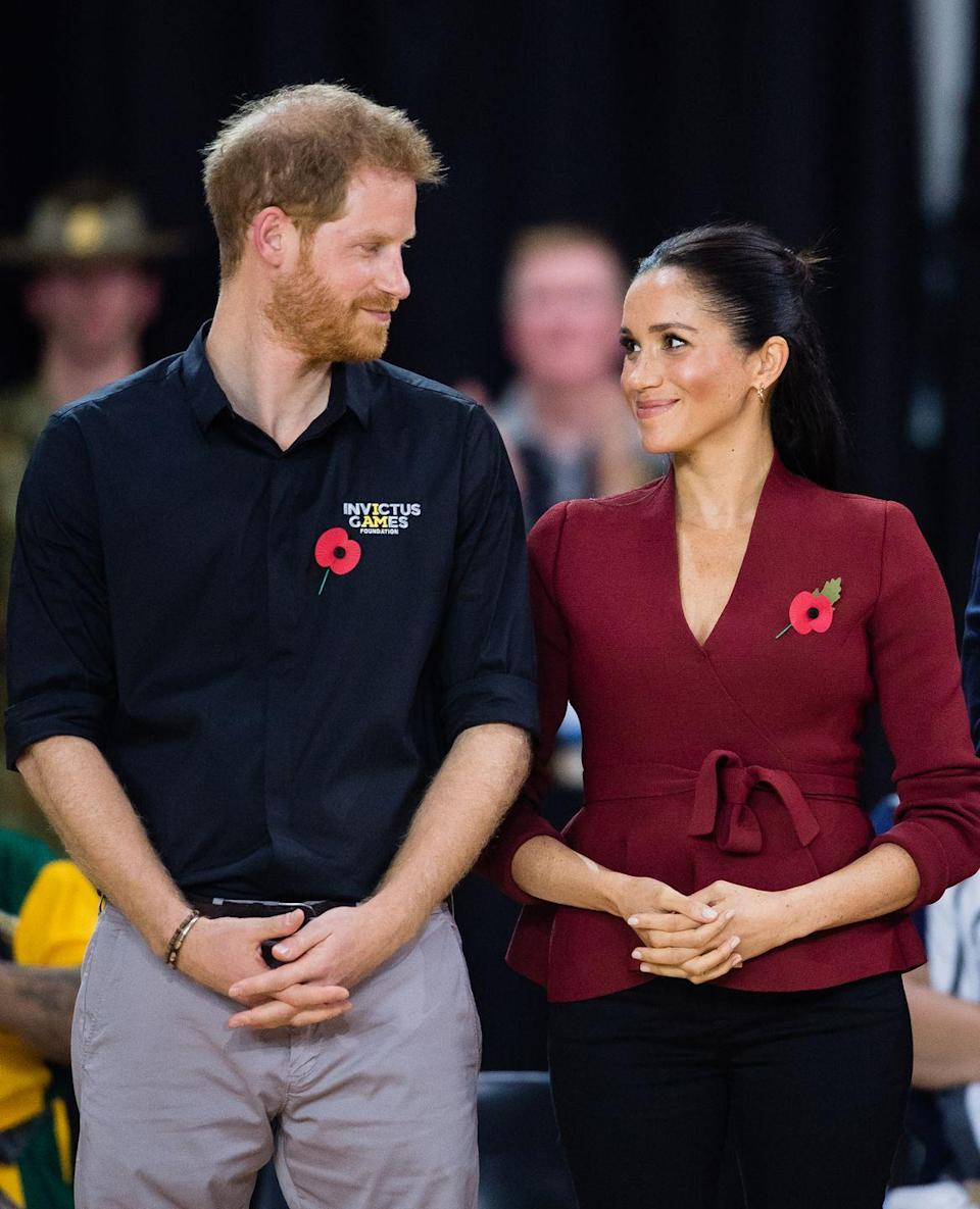 <p>Meghan and Harry watched in the crowd as the Netherlands played the United States. </p>
