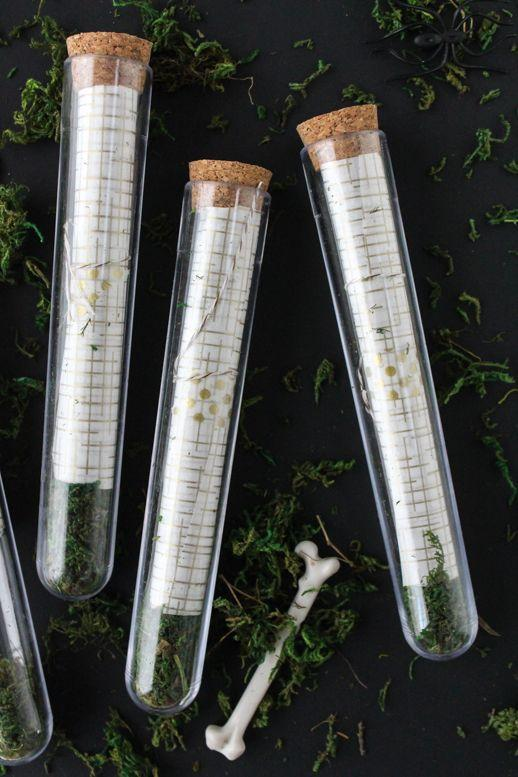 "<p>Don't limit Halloween party decor to the big event itself. Make sure your invitations are just as spirited and fun. These DIY test tubes from <a href=""https://sugarandcloth.com/diy-scroll-test-tube-invitations/"" rel=""nofollow noopener"" target=""_blank"" data-ylk=""slk:Sugar and Cloth"" class=""link rapid-noclick-resp"">Sugar and Cloth</a> will do the trick. </p><p><a class=""link rapid-noclick-resp"" href=""https://www.amazon.com/16x150mm-Glass-Stoppers-Karter-Scientific/dp/B004O49X7Y/ref=asc_df_B004O49X7Y/?tag=syn-yahoo-20&ascsubtag=%5Bartid%7C10057.g.2554%5Bsrc%7Cyahoo-us"" rel=""nofollow noopener"" target=""_blank"" data-ylk=""slk:BUY NOW"">BUY NOW</a> <strong><em>Glass Test Tubes, $9</em></strong></p>"