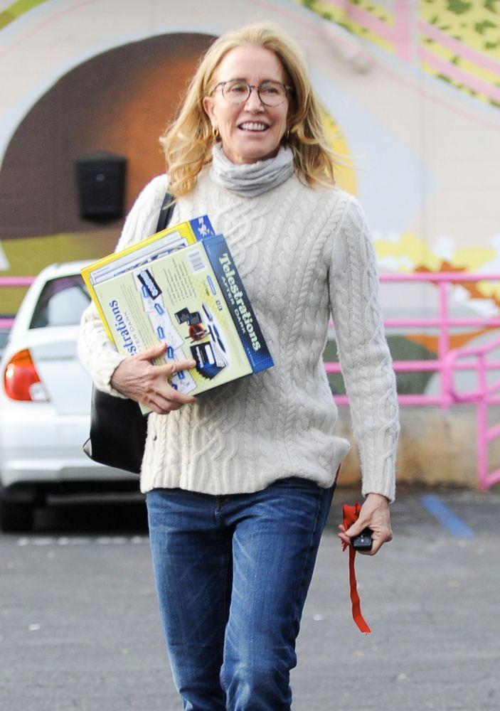 Felicity Huffman leaving her community service | The Image Direct