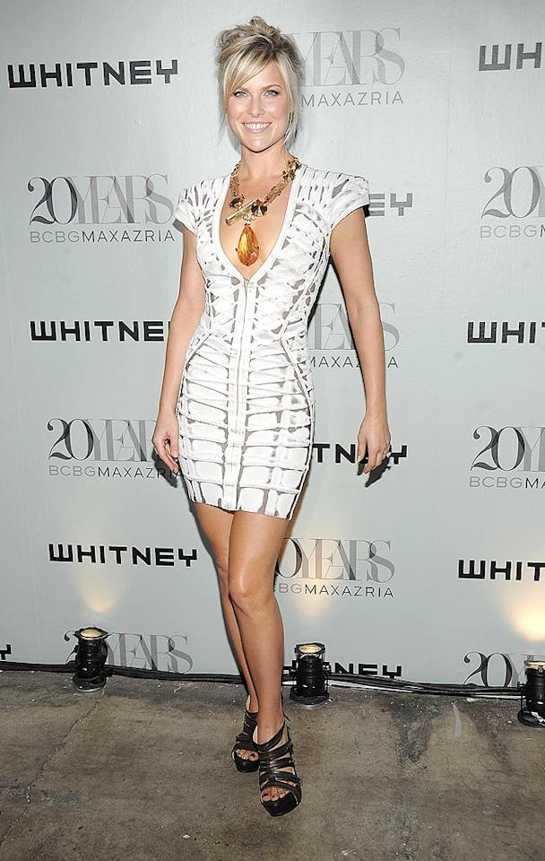 "Also in Herve Leger ... Ali Larter, who rocked her patterned frock with a statement necklace and loose updo. Jamie McCarthy/<a href=""http://www.wireimage.com"" target=""new"">WireImage.com</a> - June 16, 2009"