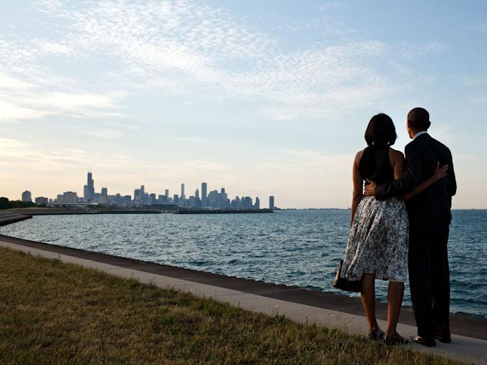 barack and michelle chicago