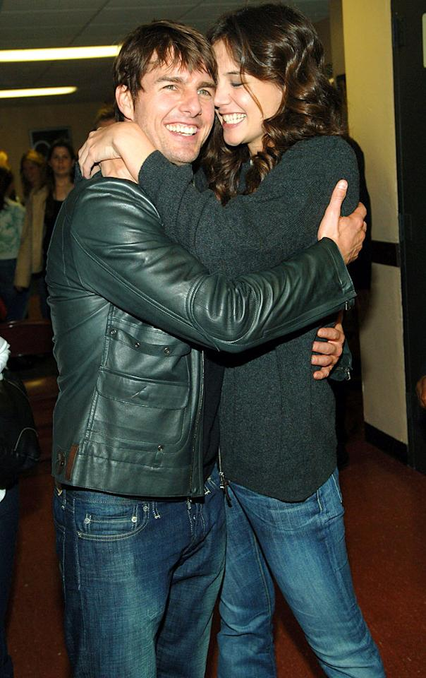 """Tom Cruise and Katie Holmes can't keep their hands off of one another. Kevin Mazur/<a href=""""http://www.wireimage.com"""" target=""""new"""">WireImage.com</a> - June 4, 2005"""