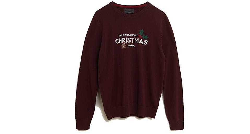 Pure Cotton Slogan Christmas Jumper